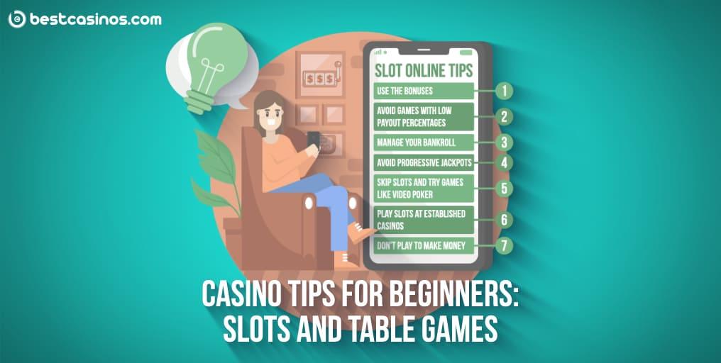 Online Casino Beginner Tips Slots Table Games Guide