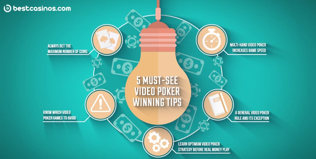 top 5 Must-see video poker tips for winning