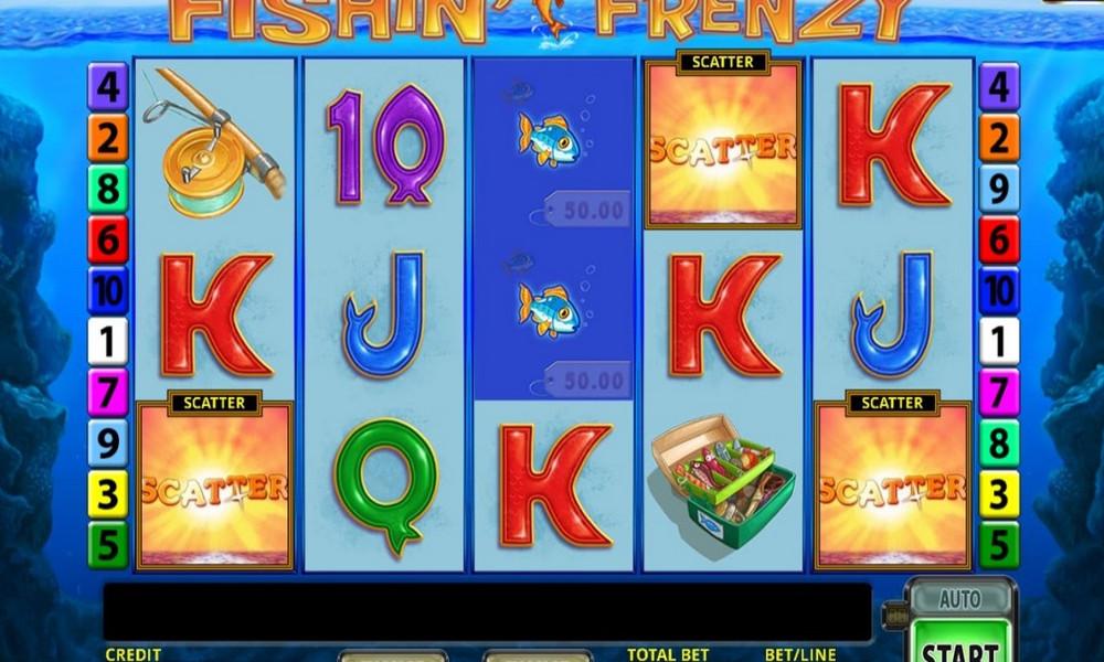 Play Fishin Frenzy Merkur Gaming 10 Paylines