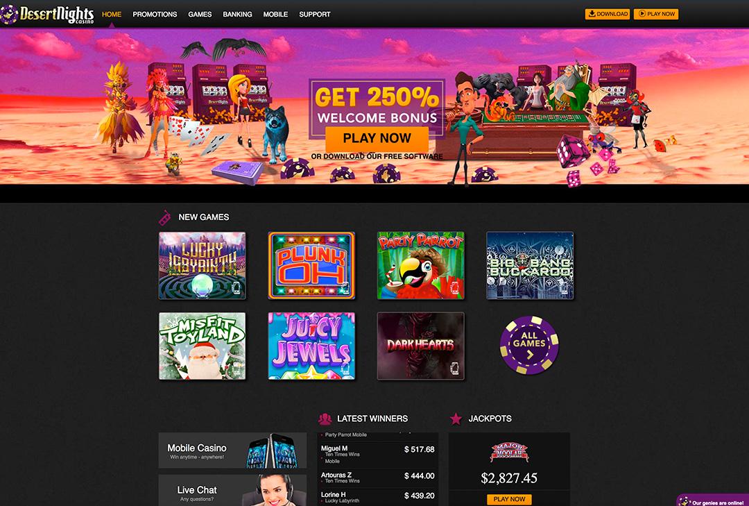 Desert Nights Casino Instant Play