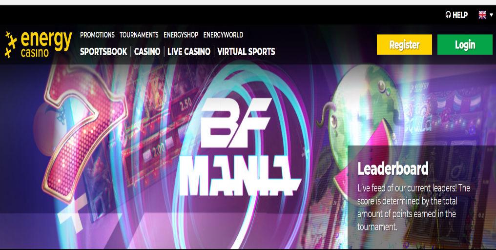 Energy Casino promo