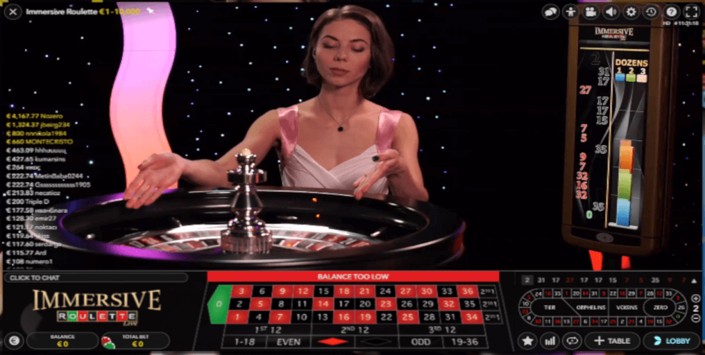 Play Multiplayer Immersive Roulette Live