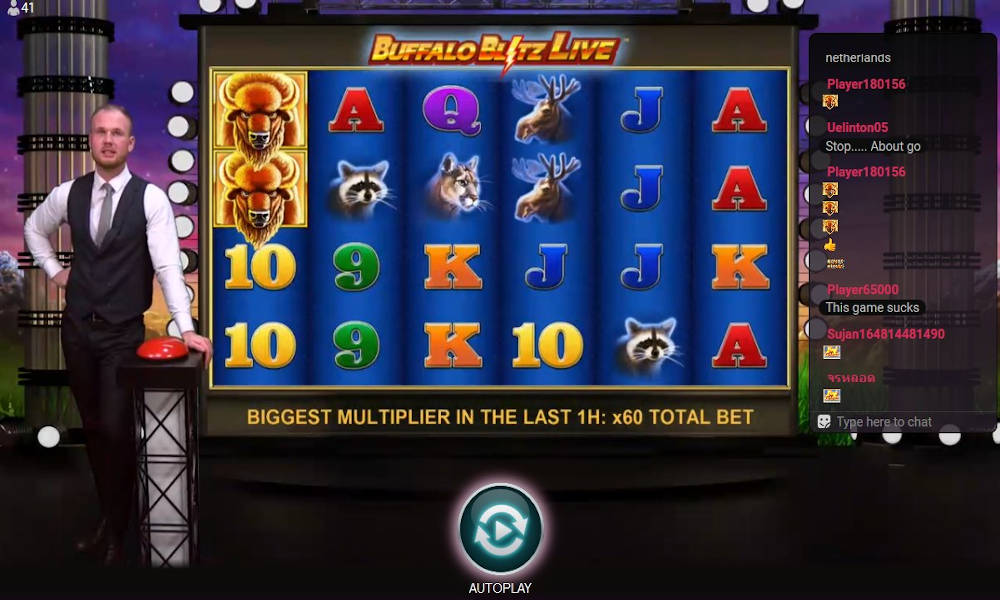Buffalo blitz slot game machine