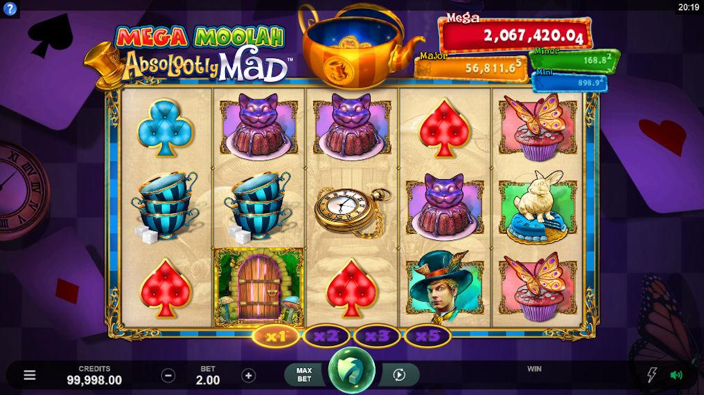 Absolootly Mad Mega Moolah Progressive Slot