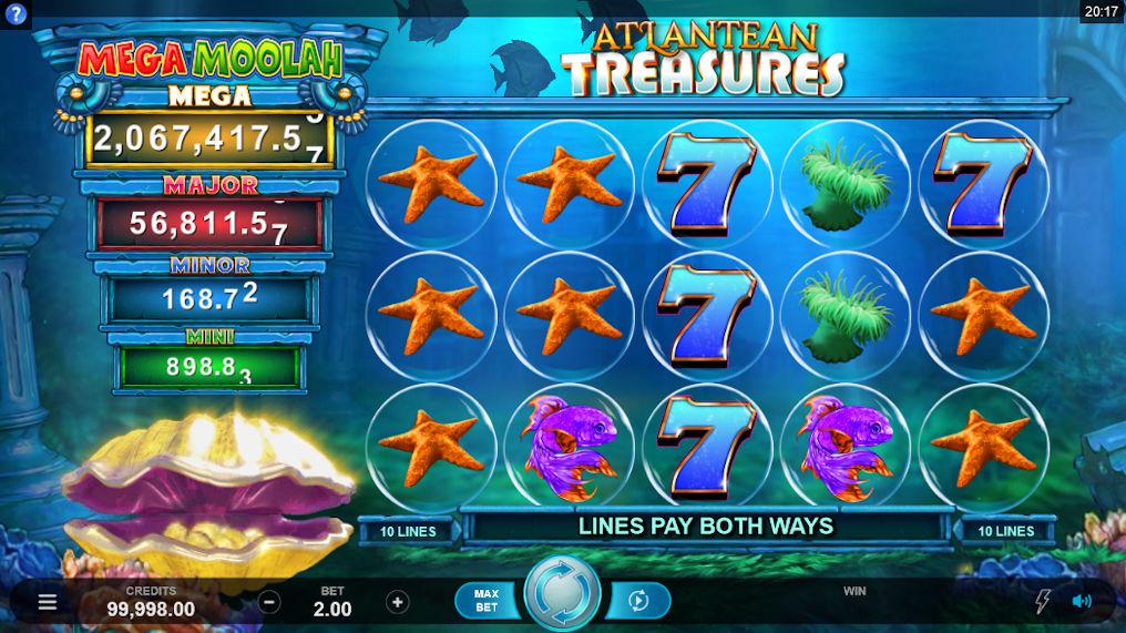 Atlantean Treasures Mega Moolah Progressive Slot