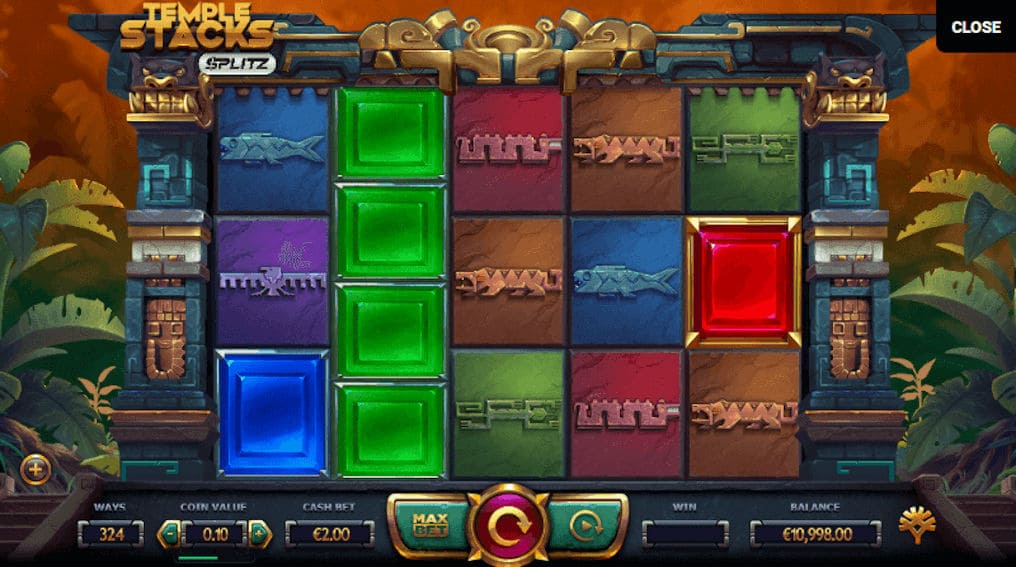 Temple Stacks Yggdrasil Gaming Slot Mechanics