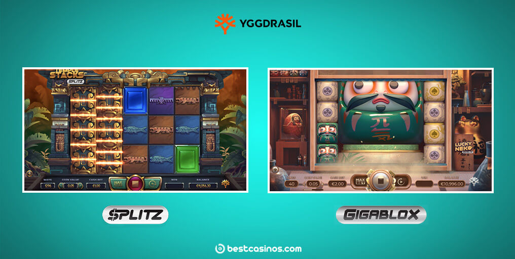 Splitz Gigablox Slots Mechanics Yggdrasil