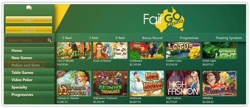 Play Pokies at Fair Go Casino