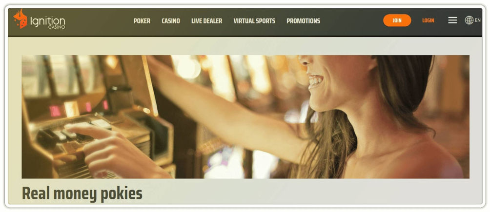 Play Pokies at Ignition Casino