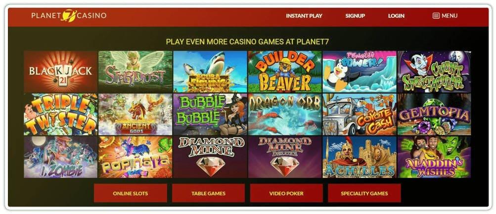 Play Pokie Slots at Planet 7 Casino