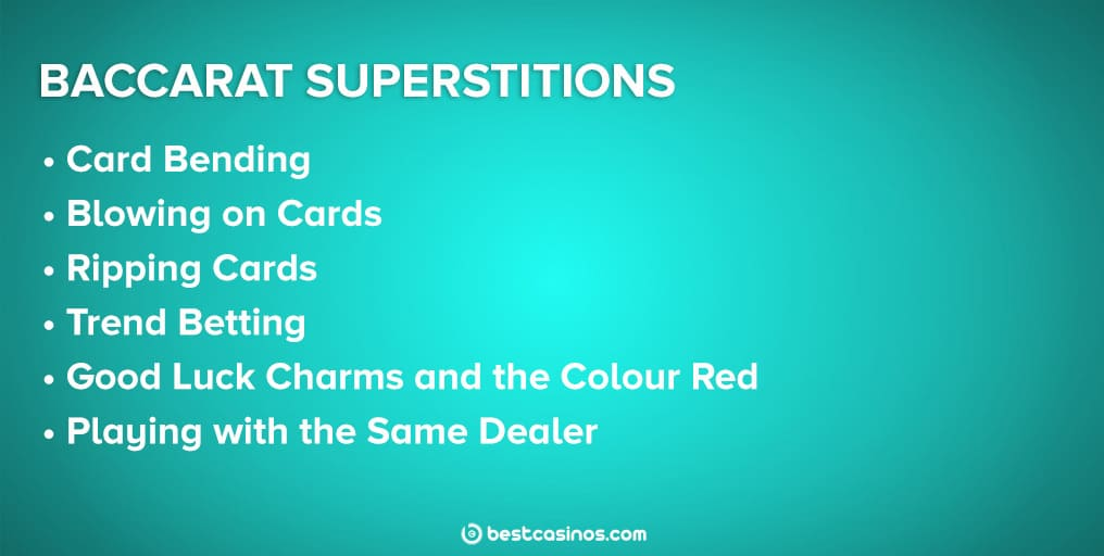 Superstitions in Baccarat