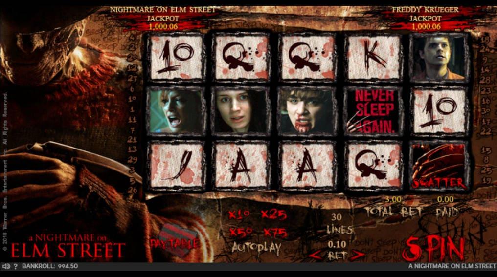 A Nightmare on Elm Street 888 Slot Online