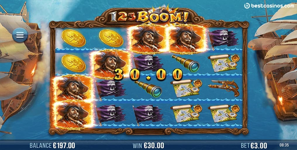 Online 123 Boom Slot Game 4ThePlayer.com Cascading Reels