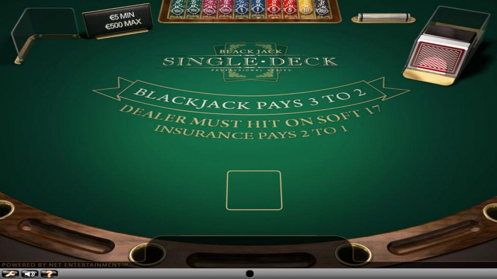 Free Blackjack Single Deck NetEnt