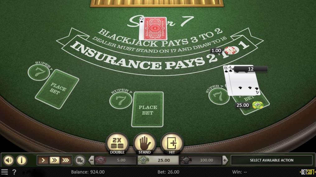 Free Super 7 Blackjack Betsoft