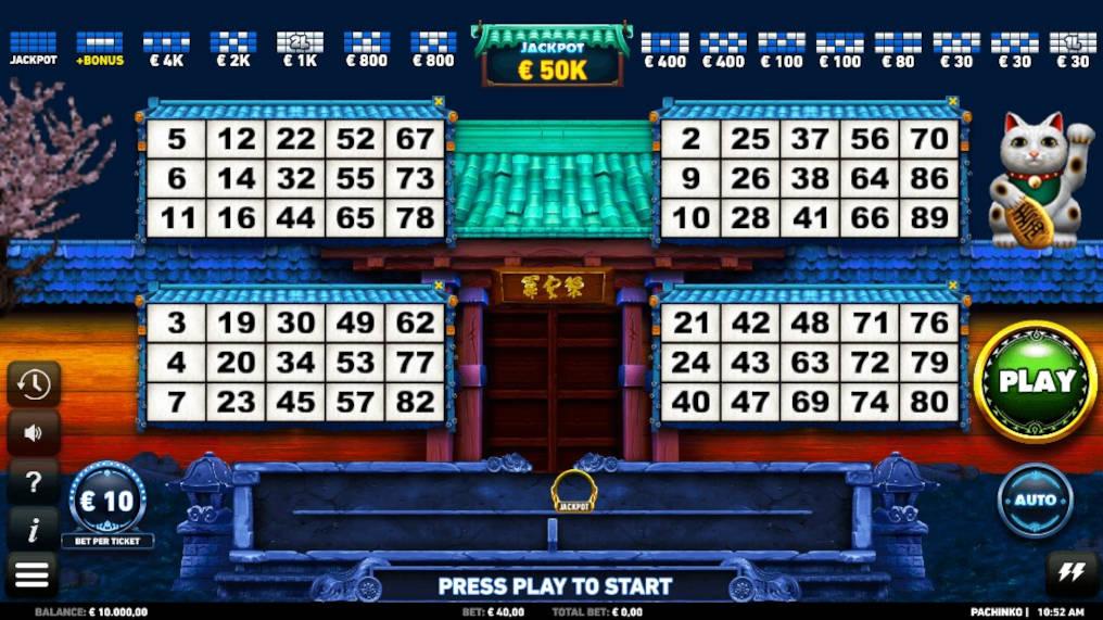 Play Pachinko Video Bingo Microgaming Online