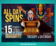 Tuesday Saturday All Day Spins King Billy Promotion