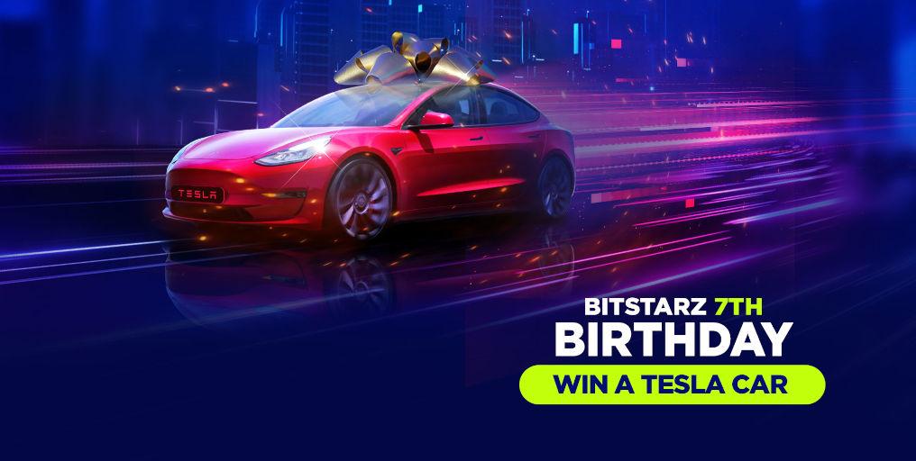 BitStarz online casino Tesla Birthday Promotion